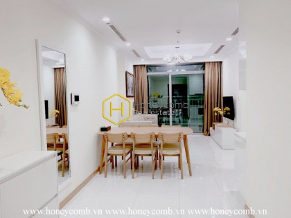Feel the coziness in this rustic apartment at Vinhomes Central Park