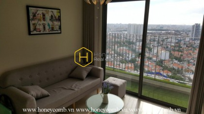 Rustic apartment for rent with modern furniture in Masteri Thao Dien