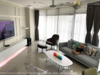 Three beds apartment luxury furniture in City Garden for rent