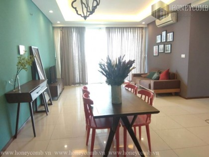 Thao Dien Pearl apartment two bedrooms low floor for rent
