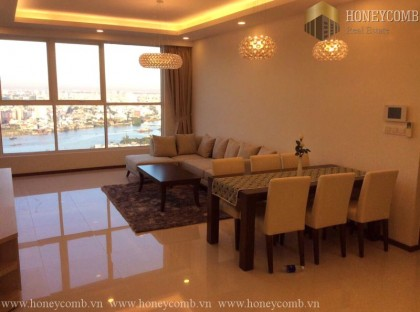 Three bedrooms apartment with elegant and luxury furniture for rent in Thao Dien Pearl.