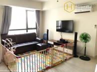 Căn hộ 2 phòng ngủ đơn giản với bếp mở cho thuê tại Masteri Thảo Điền