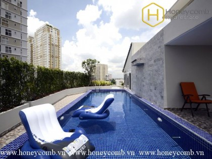 Serviced apartment 2 bedrooms with nice view in Thao Dien