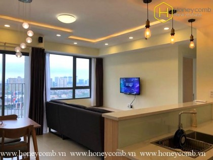 2 beds apartment simple furniture in Masteri Thao Dien for rent