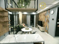 The 2 bed-apartment is supremely airy and close to the nature at Masteri An Phu