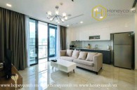 The 2 bed-apartment with interfusion of many styles in design from Vinhomes Golden River