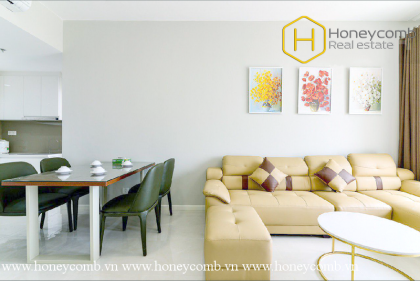 The fresh and cozy 2 bed-apartment is ready to welcome new owners home at Masteri An Phu
