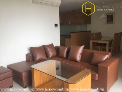 2 beds apartment with wood furnished in Masteri Thao Dien