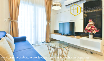 The bright 2 bedroom-apartment is very charming at Masteri Thao Dien