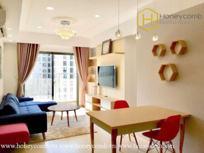 The 2 bedroom-apartment with outstanding color and strong attraction at Masteri Thao Dien