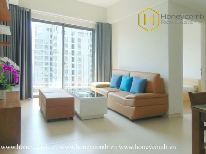 Two bedroom apartment with high floor and new furniture in Masteri for rent