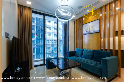The 2 bed-apartment with modern and harmonious colours in design at Vinhomes Golden River