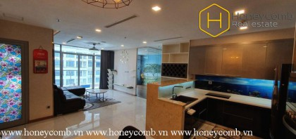 The spacious 4 bedroom-apartment with lovely design from Vinhomes Central Park