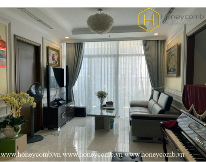 The 2 bed-apartment is ultra modern with so much space at Vinhomes Central Park