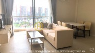 The pure white tone and elegantly furnished apartment in Diamond Island