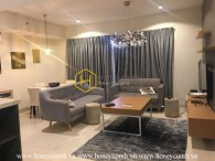 Modern style furniture with 2-bedroom Masteri Thao Dien for rent
