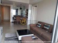 The cozy apartment with a deep tone in Masteri Thao Dien for leasing