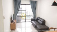 Feel the elegance of white tone in Sun Avenue apartment for rent