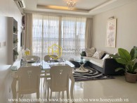 Charming pure-white tone apartment with sophisticated design in Thao Dien Pearl for lease