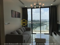 Full living facilities apartment with modern design in Vinhomes Golden River for lease