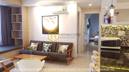 Modern style furniture with two bedrooms in Masteri Thao Dien