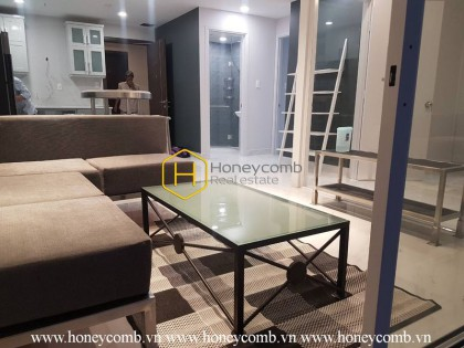 Beautiful 2 beds apartment with high floor for rent in Tropic Garden