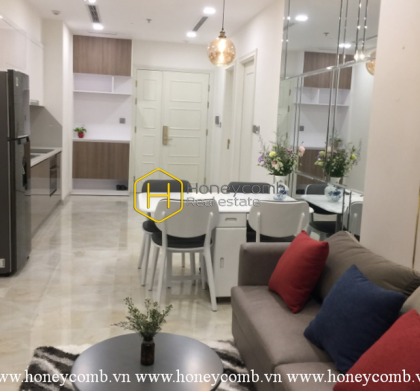 A sophisticated apartment with white tone layout and lovely balcony in Vinhomes Golden River