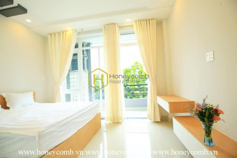 A delicate serviced apartment with bright layout for rent in  District 2