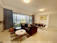 High-end apartment in Gateway Thao Dien with elegant color tones exuding a gentle, pure look