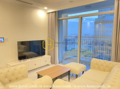 Spacious and minimalist furnished apartment combine with great river view in Vinhomes Central Park