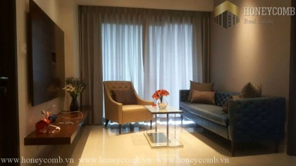 Great! Two beds apartment modern style in Masteri for rent