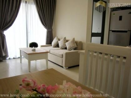 Căn hộ 2 phòng ngủ với khung cảnh thành phố tại Masteri Thảo Điền cho thuê