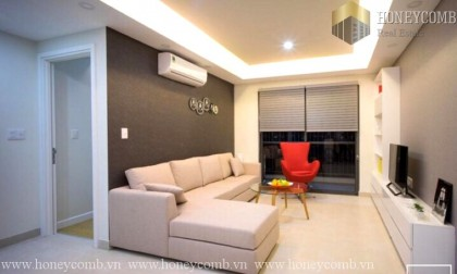Two beds apartment luxury design in Masteri Thao Dien for rent