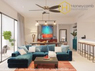 Open space contemporary-style 3 bedrooms apartment in Gateway Thao Dien