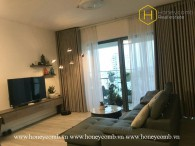 The aesthetic 2 bed-apartment is sun-filled at Gateway Thao Dien