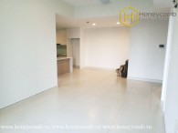 The unfurnished 3 bed-apartment is spacious and airy at Masteri Thao Dien