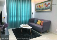 The 2 beds apartment with elegant and soothing colours at Masteri Thao Dien