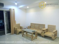 The rustic 3 bed-apartment with wooden furniture at River Garden