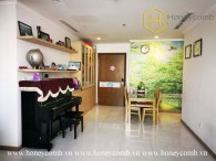 The 2 bed-apartment with artistic and eye-smoothing design at Vinhomes Central Park