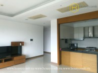 The semi-furnished 3 bed-apartment with sun-filled space at XI Riverview Palace
