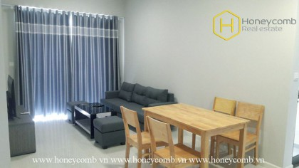 The 2 bed-apartment with fully furnished , well-lit and rustic design at Masteri An Phu