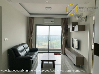 The 2 bed-apartment is simple but very convenient from Masteri Thao Dien