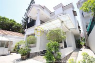 Bright and unfurnished villa with a garden and a pool is for rent in Thao Dien , District 2