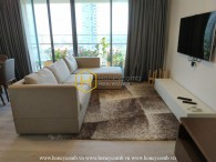 The shiny and cozy 2 bed-apartment is ready to move in at Gateway Thao Dien