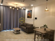 Feel the warmth in this simplified design apartment for rent in Vinhomes Golden River