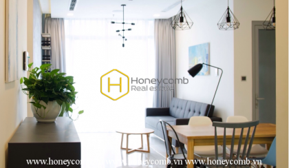 Feel the tranquil air in this cozy furnished apartment at Vinhomes Central Park