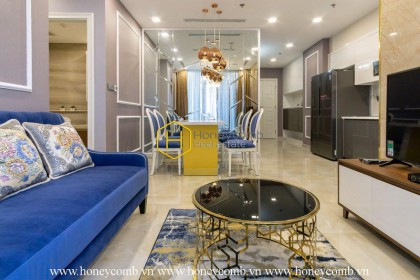 The 2 bedrooms-apartment is very royal but modern in Vinhomes Golden River