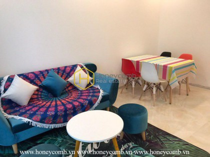 The 2 bedrooms-apartment with Idian style in Vinhomes Golden River