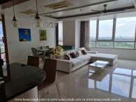 A distinctive Xi Riverview Palace apartment lies in elegant grey furniture