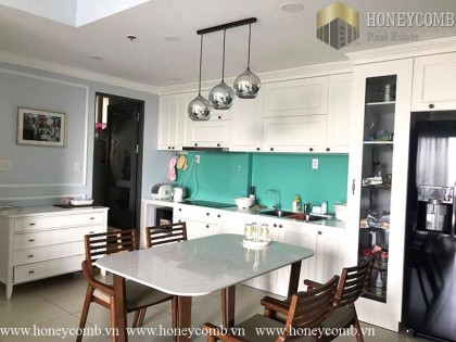 Two beds apartment open kitchen for rent in Masteri Thao Dien